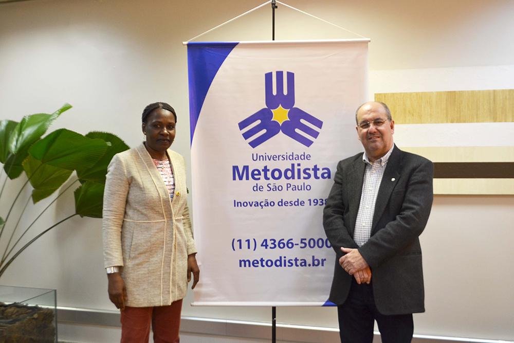 Reitor da UMESP recebe reitora da Universidade Metodista de Angola