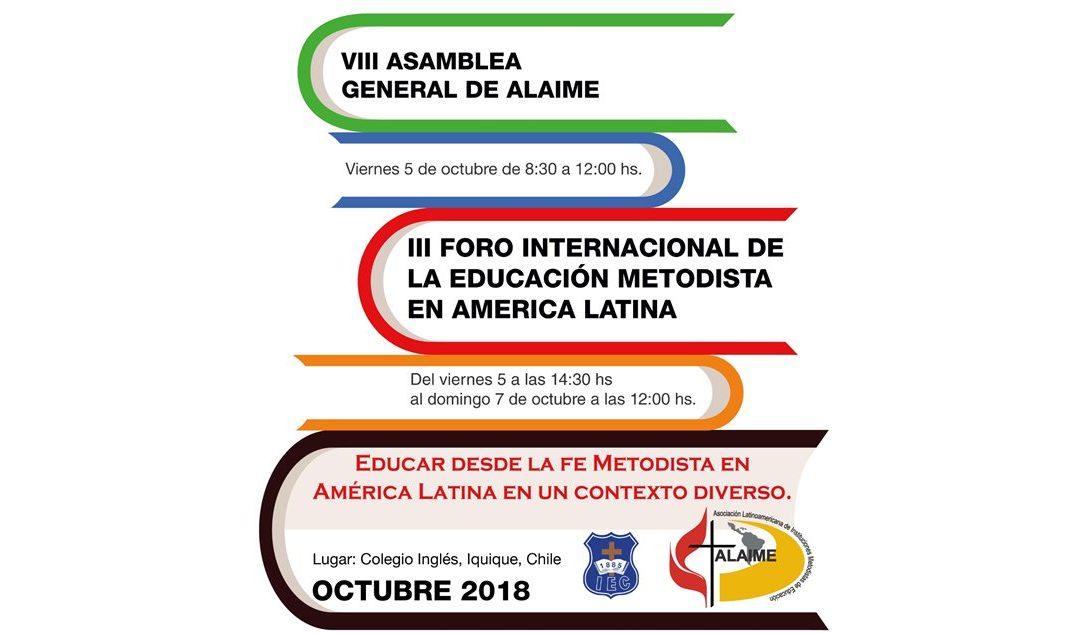 Representantes da Educação Metodista participam de evento da ALAIME no Chile